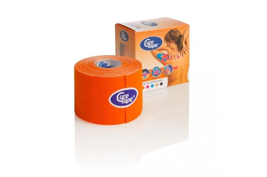 Медицинский кинезио-тейп  CureTape 5cm x 5m оранжевый