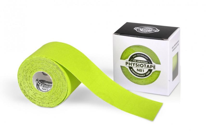 Спортивный кинезио-тейп PhysioTape No.1 5cm × 5 m зелёный