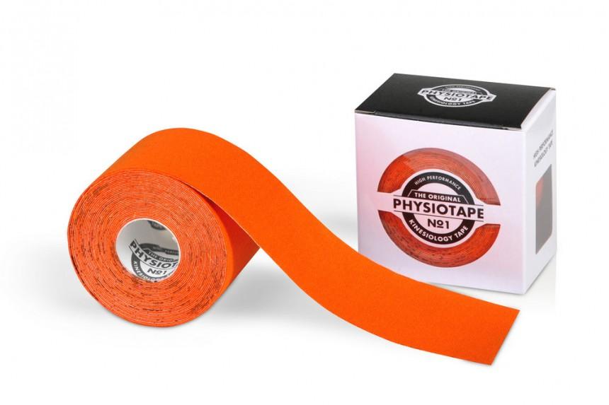 Спортивный кинезио-тейп PhysioTape No.1 5cm × 5 m оранжевый