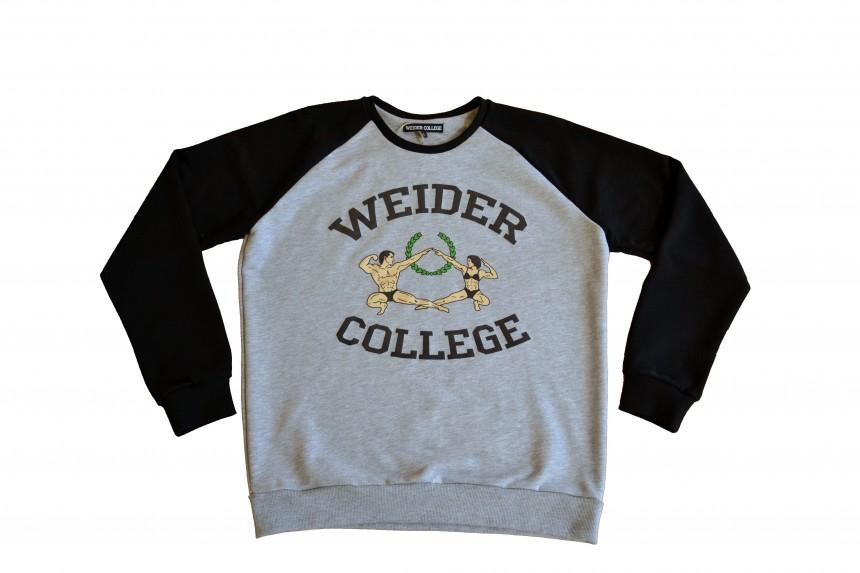 """Свитшот женский """"Weider College"""" серый"""